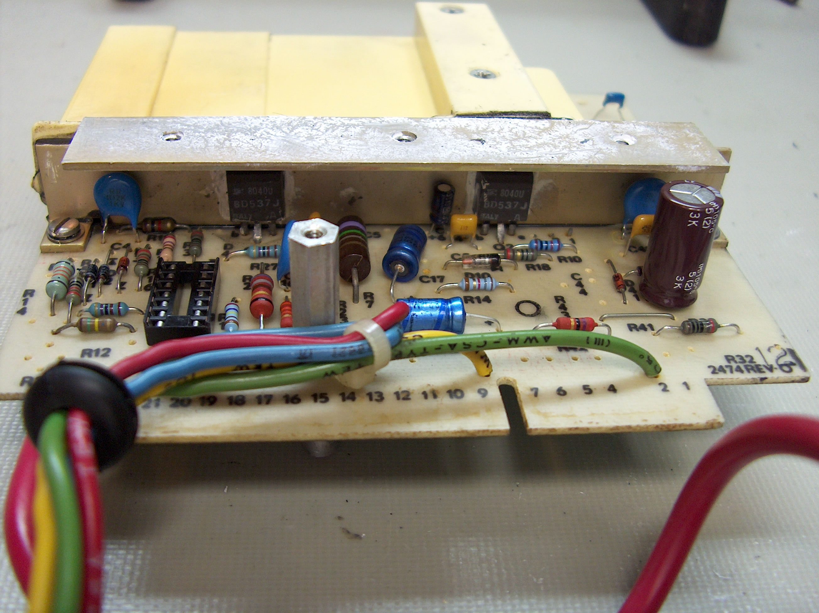 Fix The Whole Circuit Assembly Along With The Transformer Inside A